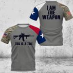 I Am The Weapon Texas Flag 3D Full Printing HTT-TT243