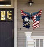 US Navy Veteran Eagle Flag Cut Metal Sign hp-49hl013