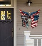 Eagle Flag Cut Metal Sign hp-49hl009