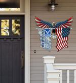 US Air Force Veteran Eagle Flag Cut Metal Sign hp-49hl012