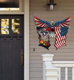 101st Airborne Division Eagle Flag Cut Metal Sign hp-49hl014