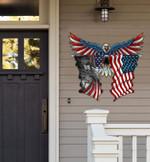 Eagle Flag Cut Metal Sign hp-49hl006