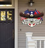 Confederate Eagle Heritage Not Hate Cut Metal Sign hp-49hl001