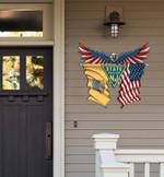New Jersey State Police Eagle Flag Cut Metal Sign HTT01JUN21XT2