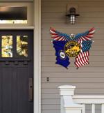 Kentucky State Police Eagle Flag Cut Metal Sign HTT01JUN21XT3