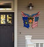 Pennsylvania State Police Eagle Flag Cut Metal Sign HTT01JUN21XT4