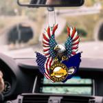 Kentucky State Police Eagle Flag CAR HANGING ORNAMENT HTT-37XT006