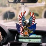 Pennsylvania State Police Eagle Flag CAR HANGING ORNAMENT HTT-37XT007