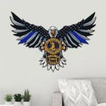 Virginia State Police Eagle Flag Cut Metal Sign HQT01JUN49SH012