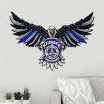 Indianapolis Metropolitan Police Department Eagle Flag Cut Metal Sign HQT01JUN49SH013