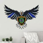 Houston Police Department Eagle Flag Cut Metal Sign HQT01JUN49SH014