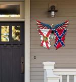 Florida With Confederate Flag Eagle Flag Cut Metal Sign HQT01JUN49SH019