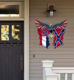 Mississippi With Confederate Flag Eagle Flag Cut Metal Sign HQT01JUN49SH024