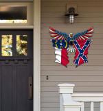 North Carolina With Confederate Flag Eagle Flag Cut Metal Sign HQT01JUN49SH025