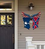 South Carolina With Confederate Flag Eagle Flag Cut Metal Sign HQT01JUN49SH027