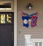 Virginia With Confederate Flag Eagle Flag Cut Metal Sign HQT01JUN49SH030
