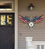 United States Navy Proudly Served Cut Metal Sign