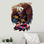 Confederate Flag Eagle Cut Metal Sign HQT02JUN21SH1