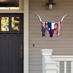 Texas With American Flag Cut Metal Sign HQT03JUN21TT11