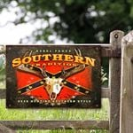 Rebel Proud Southern Tradition Deer Hunting Southern Style Metal Sign HTT-29TT036