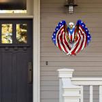 Puerto Rican American Flag USA Eagle Cut Metal Sign HTT04JUN21TT13