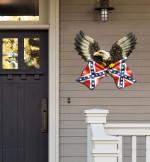 Eagle Confederate Flag Cut Metal Sign HTT04JUN21TT19