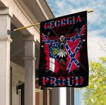 Georgia Proud Confederate Eagle 3D Flag Full Printing HTT04JUN21XT6