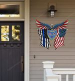 Springfield Police Department Eagle Flag Cut Metal Sign HTT04JUN21XT7