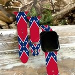 Confederate Flag Print Silicone Band For Apple Watch HQT04JUN21XT1
