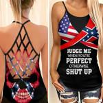 Confederate Flag Skull Woman Cross Tank Top HQT03JUN21CT71