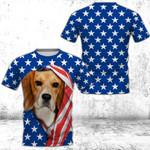 Beagle 4th July 3D Full Printing Unisex Tee HQT04JUN21TT4