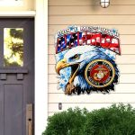 United States Marine Corps Don't Mess With America Cut Metal Sign