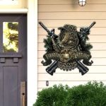 United States Marine Corps Devil Dog Cut Metal Sign