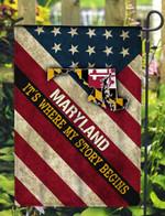 Maryland 3D Flag Full Printing HQT07JUN21TQ9