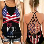 Red White Blue | 4th July | Happy Indepence Day Woman Cross Tank Top HQT08JUN21SH4