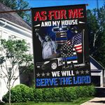 As For Me And My House We Will Serve The Lord Police 3D Flag Full Printing HTT11JUN21VA6