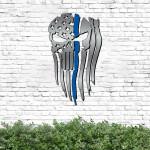 Police Punisher Flag Cut Metal Sign HTT09JUN21TT15