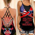 Confederate Flag Skull Woman Cross Tank Top HQT11JUN21SH8