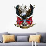 Confederate Eagle Flag Cut Metal Sign HTT03JUN21XT1