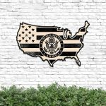US Army American Flag Cut Metal Sign HTT14JUN21TT8