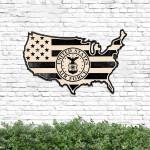 US Air Force American Flag Cut Metal Sign HTT14JUN21TT10
