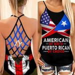 American By Birth Puerto Rican By Choice Woman Cross Tank Top HTT14JUN21XT2