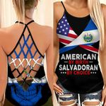 American By Birth Salvadoran By Choice Woman Cross Tank Top HTT14JUN21XT3