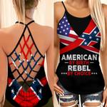 American By Birth Rebel By Choice Woman Cross Tank Top HTT14JUN21XT6