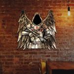 Warrior Knight Cut Metal Sign HQT14JUN21TQ1