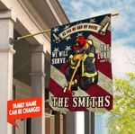 AS FOR ME AND MY HOUSE WE WILL SERVE THE LORD PERSONALIZED FAMILY NAME Firefighter Flag Full Printing HTT14JUN21TT11