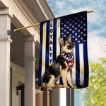 Thin Blue Line German Shepherd Loyalty Flag Full Printing HTT15JUN21TT2