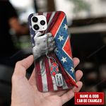 Confederate flag with American flag   Personalized phonecase hqt18jun21tp1