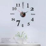 Mini Home Wall Clock 3D DIY Acrylic Mirror