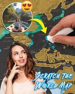 Travelers Scratch Map